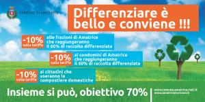 Campagna di sensibilizzazione alla raccolta differenziata dei rifiuti, rivolta ai cittadini del comune di Amatrice